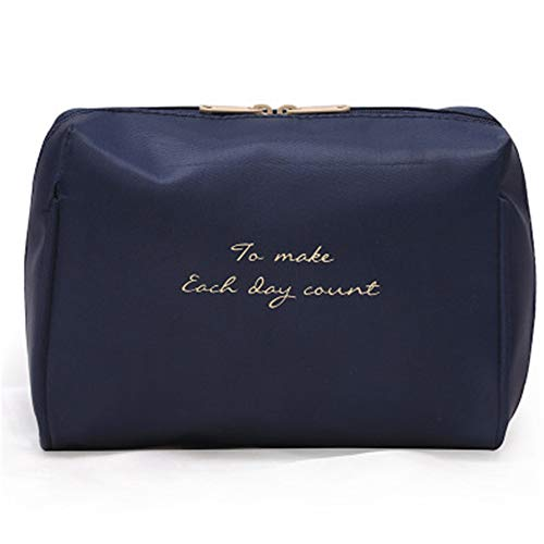 ZZXS Cosmetic bagLadies Cosmetic Bag Travel Makeup Solid Bag Fashion Lady Cosmetic Bag Storage Bag Kit Cosmetic Bag Blue