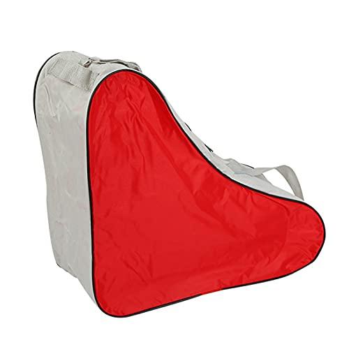 lefeindgdi Bolsa de patinaje, bolsa de hielo y patín, lona y playa, bolsa de patinaje para niños y niñas, gran capacidad 40 x 20 x 39 cm