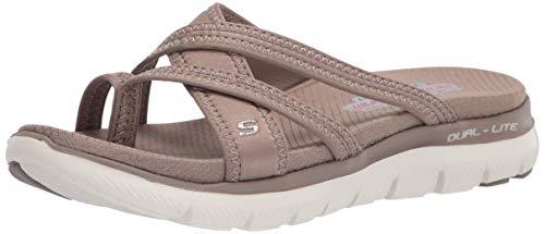 Skechers Cali Women's Women's Flex Appeal 2.0-Start UP Sport Sandal, Taupe, 11