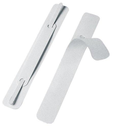 Veloflex 2802000 Schnellheftermechanik 150 x 20 mm, selbstklebend, PP, Heftzunge aus Metall, 100 Stück, weiß