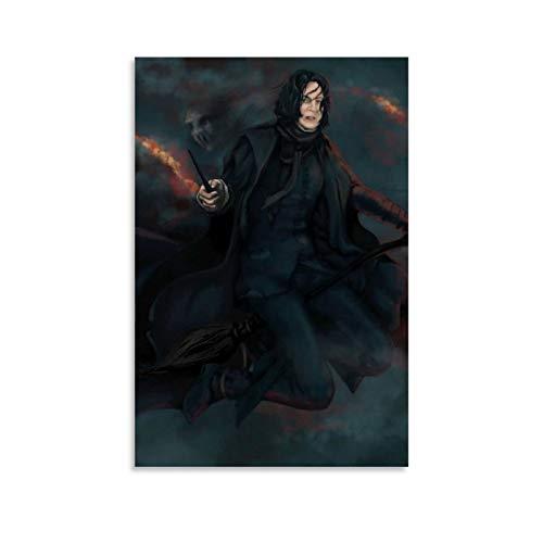 DRAGON VINES Harry Potter Hogwarts Escuela de brujería y magia Severus Snape Lienzo mágico Escoba Marco HD Decoración de pared para dormitorio sala de estar 60 x 90 cm