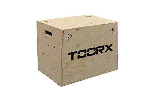 Plyo box 3 in 1 TOORX Piattaforma Altezza Regolabile 76x61x51 cm.