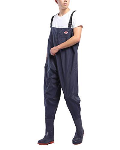Pantalones Vadeadores De Pesca Honda Mono Botas Waders para Pesca De Lanzar Transpirables Unisexo Azul 65 43
