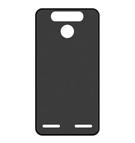 Sunrive Für ZTE Blade V8 Mini Hülle Silikon, Handyhülle matt Schutzhülle Etui 3D Hülle Backcover für ZTE Blade V8 Mini(W1 schwarz) MEHRWEG+Gratis Universal Eingabestift