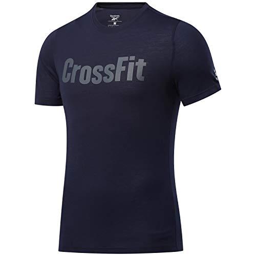 Reebok RC Crossfit Read tee Camiseta, Hombre, vecnav, L
