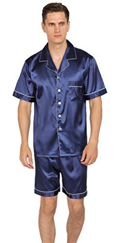 Silk Satin Pajamas Set Short Sleeve is 4th anniversary gift traditional and modern