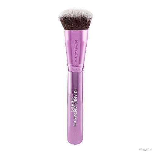 Blank Canvas F43 Multi Purpose Plat Rond Make-Up Gezichtpenseel, Metallic Champagne Roze, Metallic Champagne Pink1 Eenheden