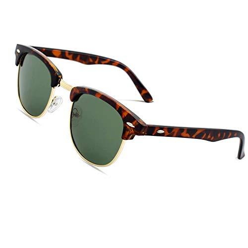 CGID MJ56 Retro Vintage Sonnenbrille im angesagte 60er Browline-Style mit markantem Halbrahmen Sonnenbrille,Mehrfarbig-Grün
