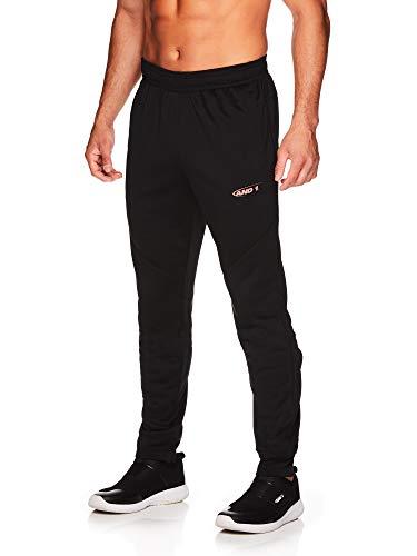 AND1 Herren Trikot Jogger Hose – Basketball Laufen & Jogging Sweatpants mit Taschen - Schwarz - XX-Large