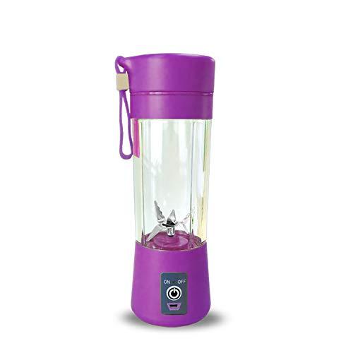 400 ml portable mélangeur de jus USB presse-agrumes tasse multi-fonction mélangeur de fruits Six Blade Mixing Machine Smoothies bébé aliments Dropshipping,purple