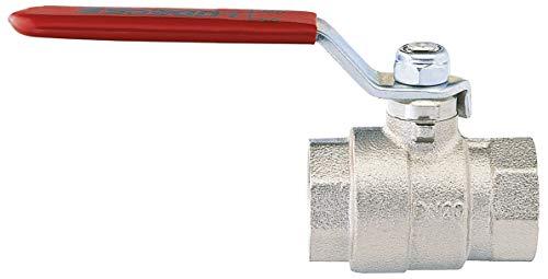 Válvula de bola K 54 K, latón niquelado, resistente, 2 x G 1 1/4 pulgadas, rosca interior
