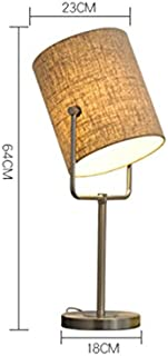GZEALL Hardware Tischlampe Kreative Mode Schlafzimmer Bedside Bedside Bedside Button Schalter Lampe Europäische Hotel Wohnzimmer Lampe E27Light Quelle B07GJKBFZF  Reichhaltiges Design ff0975