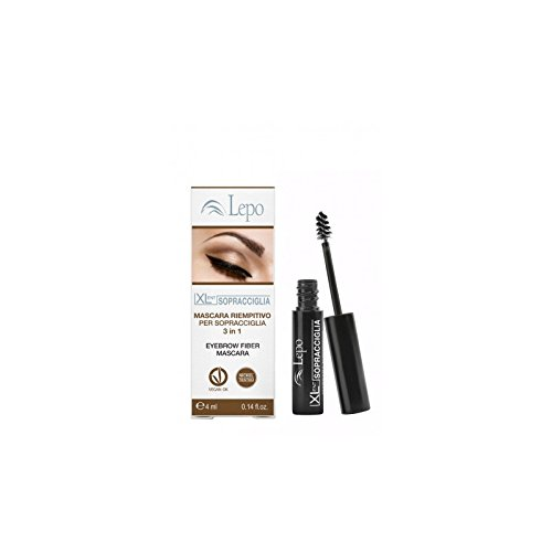 LEPO Xl Mascara Pour les sourcils Charge Tonalità 01 Moyen Effacer Maquillage