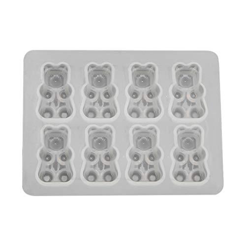 siwetg Molde de silicona con diseño de oso de azúcar, resina de...