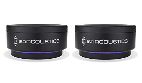 IsoAcoustics Iso-Puck Series Acoustic Isolators (Iso-Puck 76, 40 lbs or Less/Unit, 2-Pack)