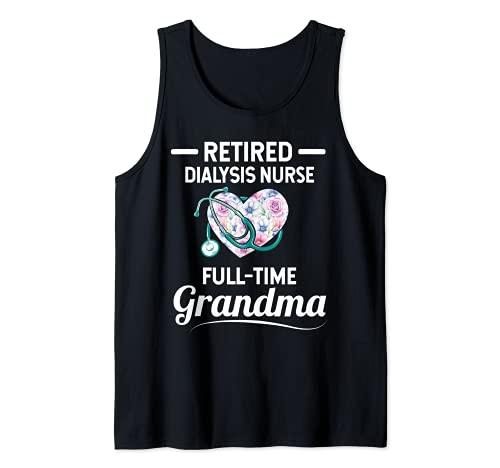 Diálisis Jubilado Enfermera Tiempo completo Abuela Camiseta sin Mangas
