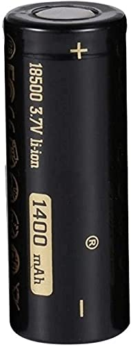 Nuevo 18500 Li-Ion 1400mAh 3 7V batería de Iones de Litio Recargable para la Linterna LED de Cabeza Plana-1 PC