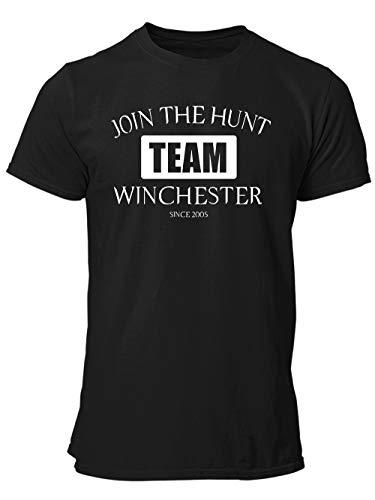 -- Team Winchester -- Boys Shirt Schwarz, Größe M