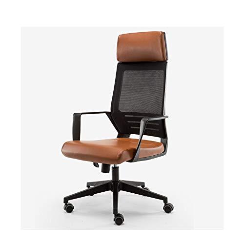 Chair Home Office Scrivania Sedia sedia Mesh traspirante e cuoio sintetico di alta supporto posteriore 35 ° di inclinazione Design for Gaming Computer PC sopportare pesi 120kg sedie scrivania