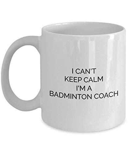 N\\A Lustige Badminton Coach Tasse Ich kann Nicht ruhig bleiben Beste Geschenkideen für Lehrer Spieler Board Dads Coffee Cup - whitemug1766
