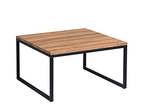 HomeTrends4You Jakarta 1 Table Basse, Chêne, Marron, 60x60cm, Höhe 35cm
