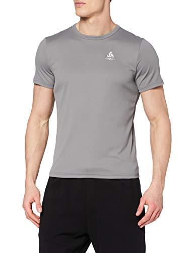 Odlo T- Shirt S/S Crew - Maglia da Uomo, Uomo, T-Shirt, 55036210352XL, Odlo Steel Grey, X-Large
