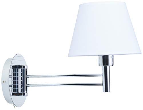 Arandela Bella Iluminação Lettura No Voltagev Cromado/ Branco