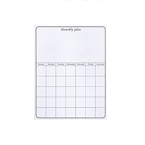 Whiteboard RENJUN- Magnetic Contact Paper Peel and Stick Dry Erase Stain-Proof Monthly Weekly Planner Calendar Table for Home Office Homeschool Kids