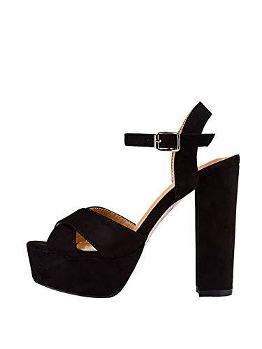 Marypaz, Sandalen mit breitem Absatz für Damen, Schwarz, Schwarz - Schwarz - Größe: 39 EU