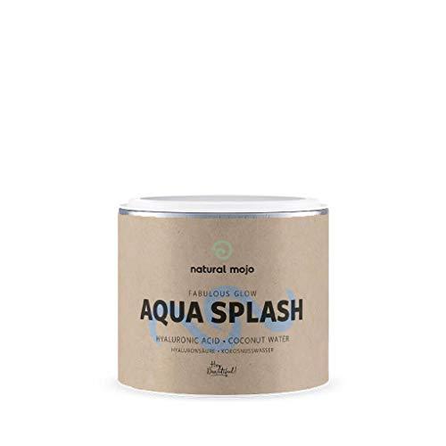 Natural Mojo Aqua Splash – 30 Anti Aging Kapseln – Nahrungsergänzungsmittel für schöne Haut – Skin Beauty Kapseln mit Kokosnusswasser und Hyaluronsäure – Vegan
