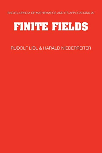 Compare Textbook Prices for Finite Fields Encyclopedia of Mathematics and its Applications 2 Edition ISBN 9780521065672 by Lidl, Rudolf