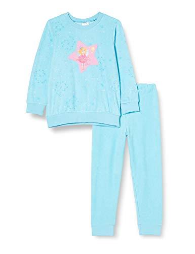 Schiesser Mädchen Frottee Prinzessin Lillifee Md Schlafanzug Lang Pyjamaset, türkis, 128