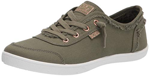 Skechers BOBS Women's 33492 Sneaker, Olive, 8.5