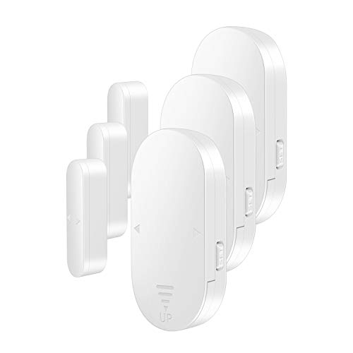 EverNary Door Window Alarm with Delay, Freezer Door Alarm When Left Open, 130dB Adjustable Volume, 5-in-1 Modes Door Open Chime for Home/Business/Pool/Refrigerator (3Pack)
