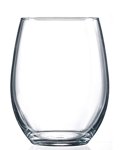 Luminarc Cachet 17 Ounce Stemless Wine Glass, Set of 4, Clear