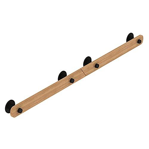 Pasamanos de madera antideslizantes para escaleras, fáciles de instalar e instalar en secciones, pasamanos de seguridad para interiores y exteriores, 30 cm de color amarillo