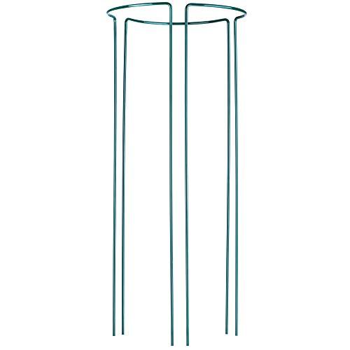 KADAX Pflanzenhalter, 3 Stück, Pflanzenstütze aus Stahl, halbrunde Rankhilfe für Pflanzen, Garten, wetterfester Blumenhalter, Staudenhalter,...