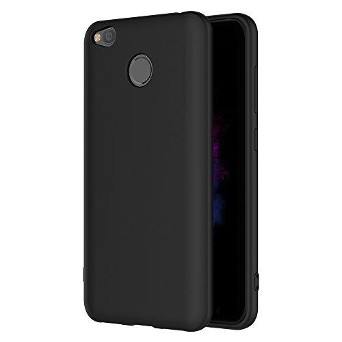 AICEK Xiaomi Redmi 4X Hülle, Schwarz Silikon Schutzhülle für Redmi 4X Hülle TPU Bumper Xiaomi Redmi 4X Handyhülle