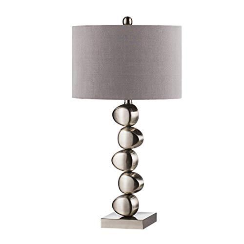 Lamparas de escritorio Acero inoxidable lámpara de mesa, pantalla de la tela, cabecera del dormitorio de la lámpara de tabla, el botón del interruptor de potencia, for la sala de estar de bar,