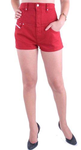 Diesel Damen Bermuda Shorts 14.N.Y.07 Rot (W26)