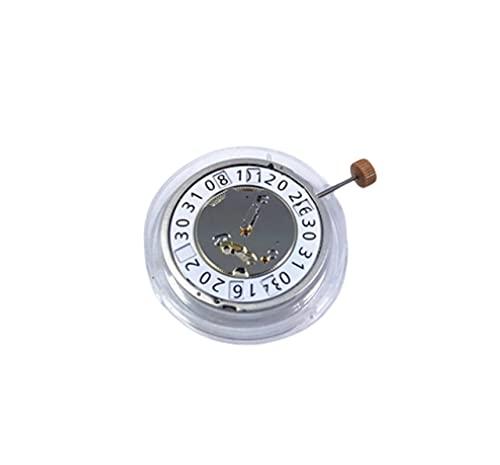 XINGFUQY Reloj Accesorios Suiza 6004B Movimiento Dos y Medio 12 O 'Calendario de Reloj 6004.B sin batería