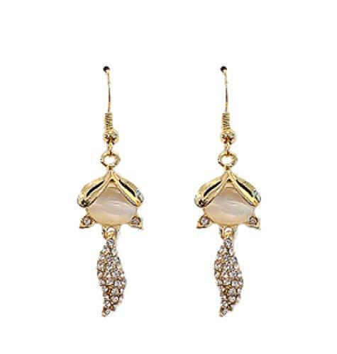 Drop Earrings For Women Opal Earrings Long Fashion Jewelry Animal Fox Crochet Earings For Women European Trendy Style Luxury Earings