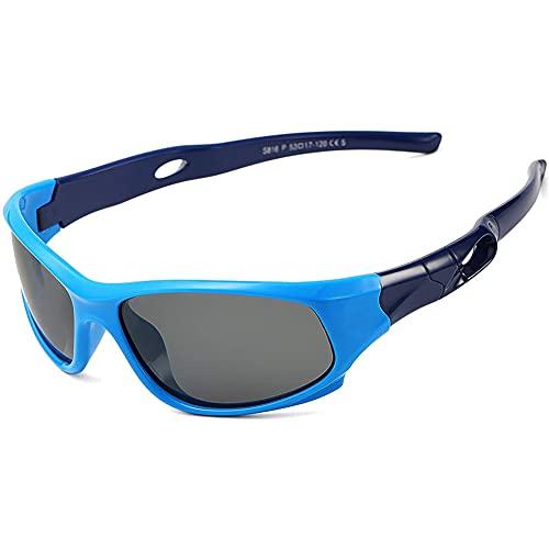 Gafas de sol Polarizadas para Niños QSXX 1 PCS Gafas de Sol para Niños Esenciales para el verano Protección UV Gafas de sol Deportivas para Niños Adecuado para todo tipo de Actividades al aire