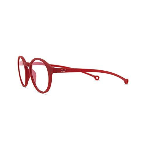 Paraffina Volga - Occhiali per schermi per uomo e donna, filtro luce blu, occhiali Eco-Friendly antiriflesso, montatura ecologica, colore: rosso