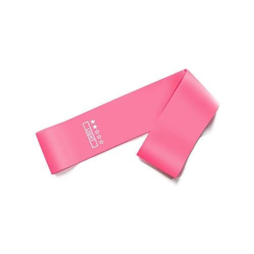 1 Unids Resistencia Bandas X-Luz a X-Heavy Training Fitness Gym Pilates Deporte Gimnasio Goma Elástico Fitness Bandas Equipo De Entrenamiento (Color : Pink)