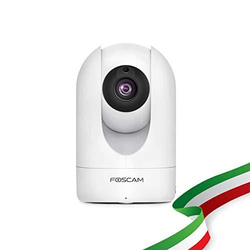 Foscam R2M WiFi IP-bewakingscamera, draadloze binnencamera met hoge resolutie 2MP met pan/tilt. Compatibel met Alexa