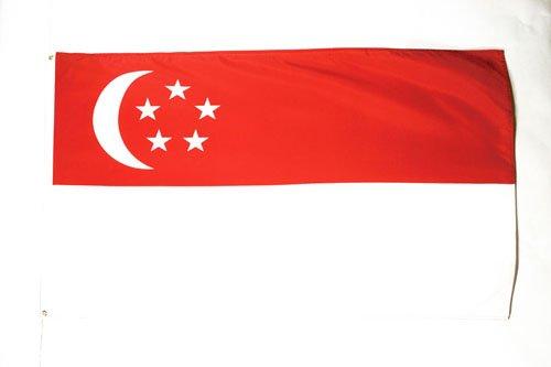 AZ FLAG Flagge Singapur 150x90cm - SINGAPURISCHE Fahne 90 x 150 cm - flaggen Top Qualität