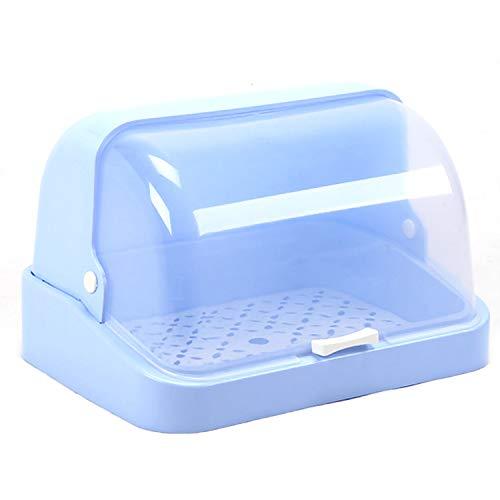 Boîte de rangement au sec pour lave-vaisselle Gosear Baby de la boîte de rangement Support avec couvercle de protection de poignée Produits de voyage familiaux Voyages (petits) Bleu
