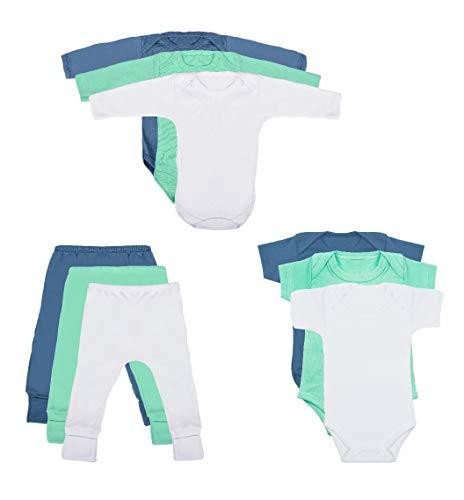 Body Bebê e Calça Mijão Kit 9 Peças Masculino (G)