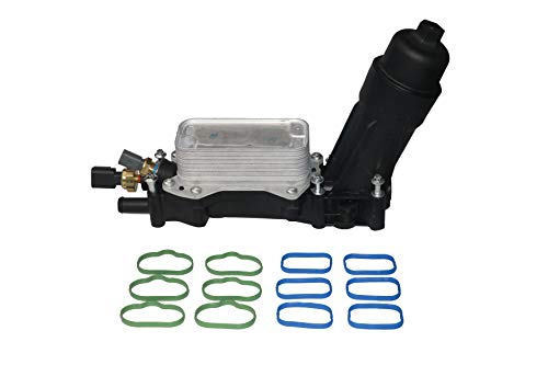 Engine Oil Cooler and Filter Housing Adapter Kit - Replaces 68105583AF, 68105583AE - Compatible with Chrysler, Dodge & Jeep 3.6L V6 Vehicles - 200, Town & Country, Grand Caravan, Wrangler, Ram